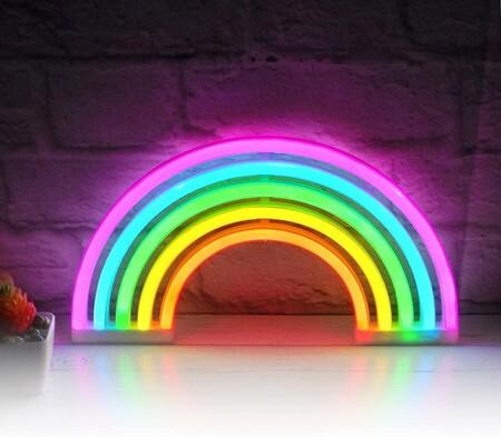 arco iris neón