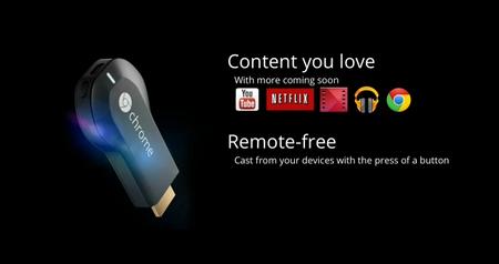 Chromecast, un dispositivo con Chrome OS que permite envío de contenido multimedia hacia cualquier televisor