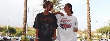 El street style nos inspira para pasar la ola de calor sin pantalones: las camisetas oversize se convierten en vestidos