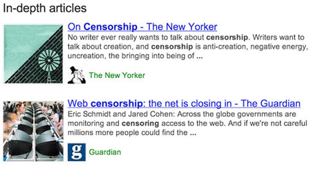 Google está trabajando en mejorar la visibilidad de los artículos destacados