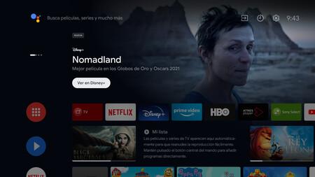 Casi todos los televisores Sony con Android TV actualizan la pantalla de inicio y ahora se parece más a la de Google TV