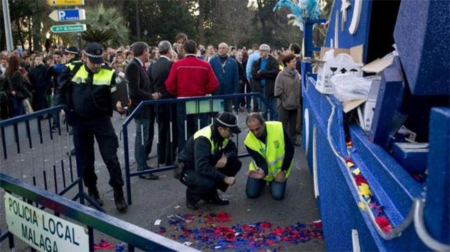 Accidente en la cabalgata de Málaga