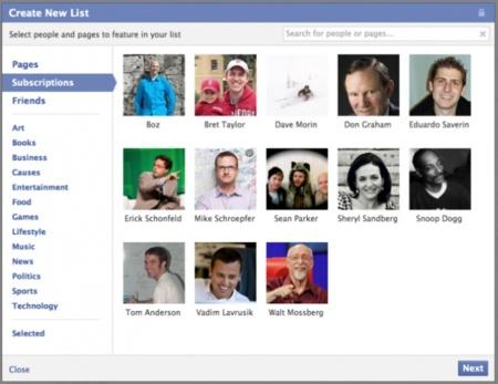 Las listas llegarán pronto a Facebook