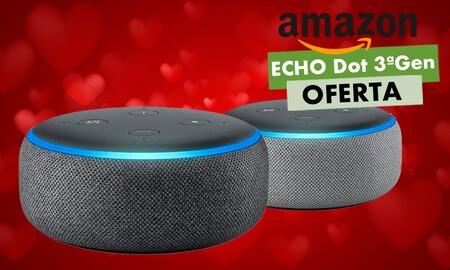 Todavía puedes comprar el Echo Dot de 3ª generación más barato: Amazon lo tiene rebajado a 34,99 euros por San Valentín