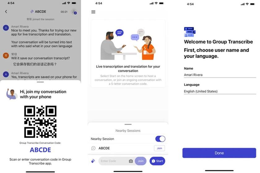 Microsoft lanza Group Transcribe para iOS, una app para transcribir y traducir conversaciones