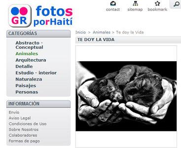 Fotos por Haití, una iniciativa solidaria