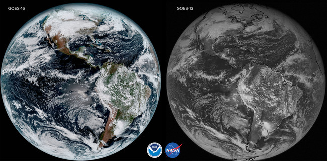 Goes 16 And Goes 13 Comparison From The Same Day Jan 15 2017 High Res