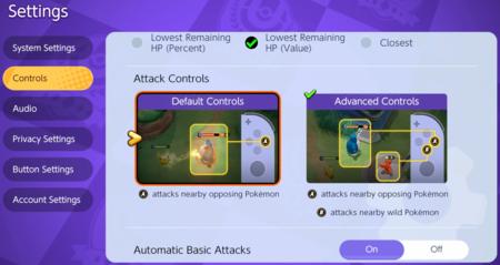 Imagen controles Pokémon Unite