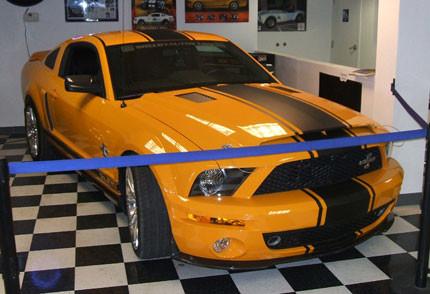 El Shelby Mustang Gt500 Super Snake Vestido De Grabber Orange