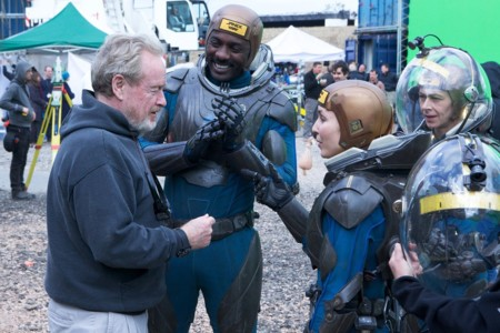 Ridley Scott rodando Prometheus