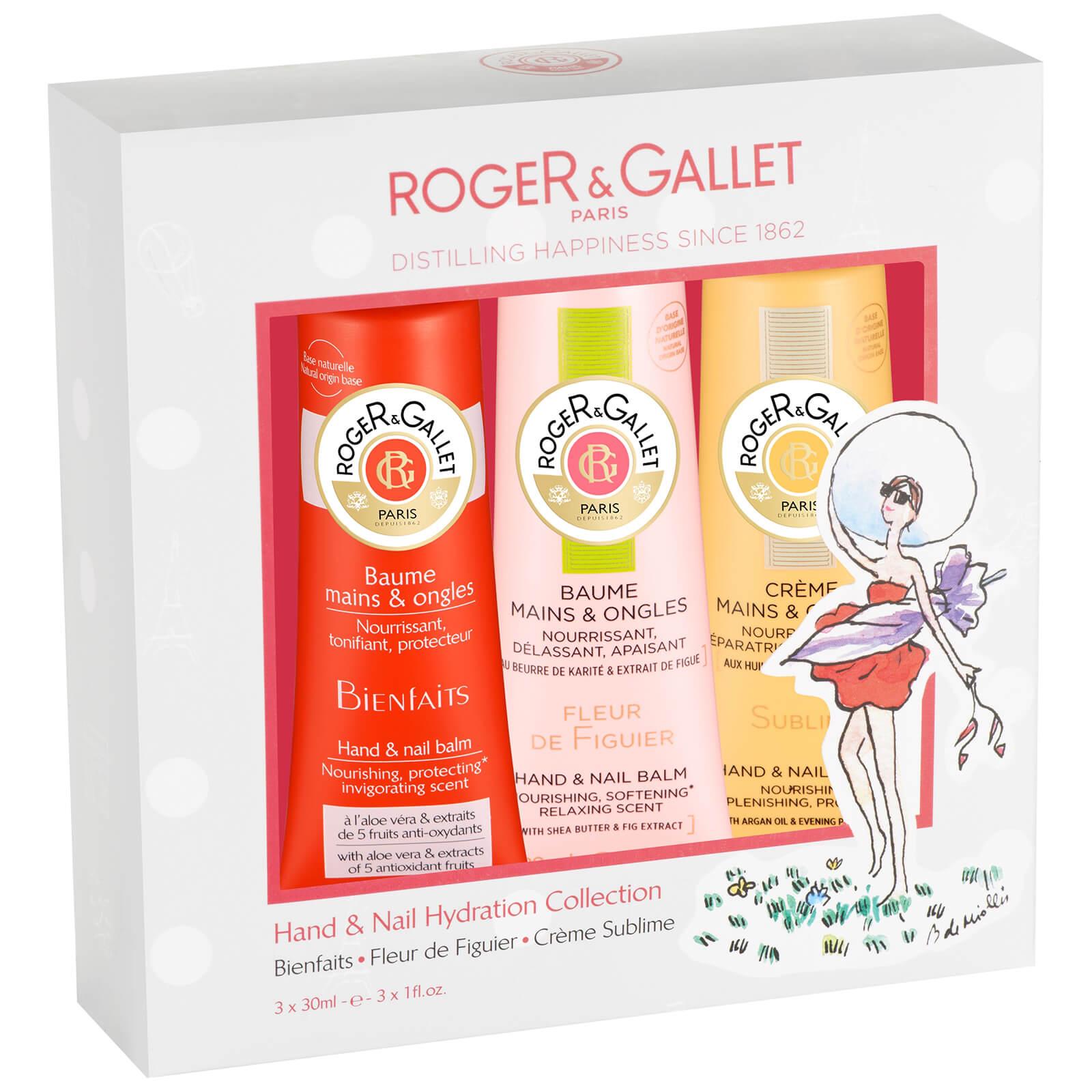 Kit para manos y uñas con bálsamo nutritivo, bálsamo hidratante y crema de manos de Roger&Gallet