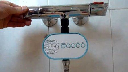H2O Power Radio, radio para la ducha por energía hidráulica