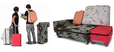 Un sofá en la maleta