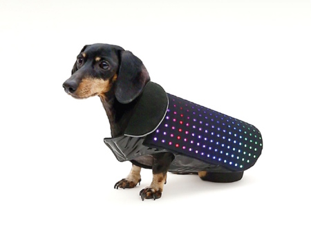 Tu perro será la sensación de las calles con este chaleco LED conectado a nuestro smartphone