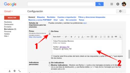 Escribir Tu Firma En Gmail