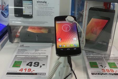Nexus 4 precio Saturn