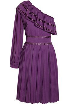 see by chloé purple dress
