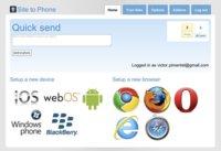 Site to Phone envía enlaces desde tu navegador a tu teléfono