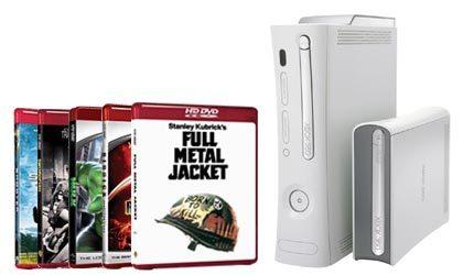 Cinco películas de regalo con el HD-DVD de Xbox 360