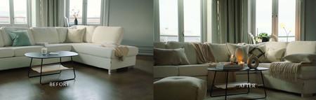El arte de vestir un sofá o como pasar de un salón soso a un salón cálido y contemporáneo de la mano de H&M Home