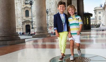 Moda niños Primavera 2015: hermanitos muy bien conjuntados