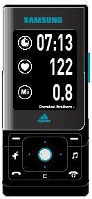 Samsung SGH-F110 con Adidas