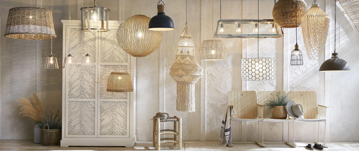 Tendencias en decoración otoño 2018: Las lámparas de mimbre