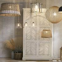 Diez lámparas cesta o de mimbre de Maisons du Monde por menos de 100 euros