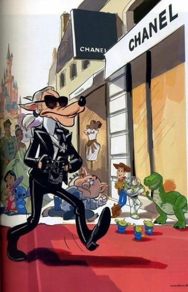 Los personajes de Disney imitan a los grandes diseñadores masculinos