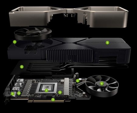 Geforce Rtx 3080 Vista despiezada Recorte web completo