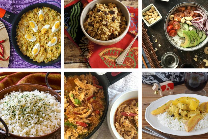 13 recetas internacionales muy sabrosas y fáciles para salir del arroz blanco en cualquier momento