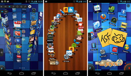 best android launcher TSF Shell 3D