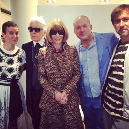 Karl Lagerfeld y Anna Wintour