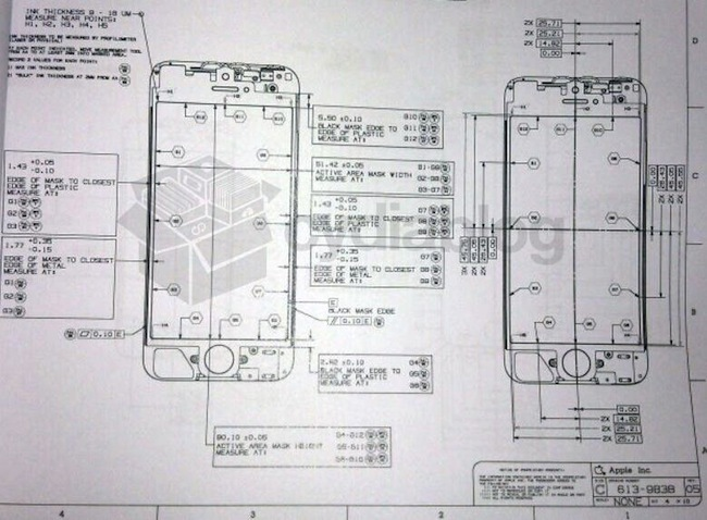 Diagrama esquemático iPhone 5