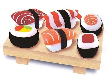 No te comas el sushi, descansa sobre él