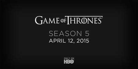 La quinta temporada de 'Juego de Tronos' ya tiene fecha de estreno: El 12 de abril
