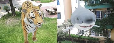Tigres, tiburones y otros animales en 3D con realidad aumentada: cómo se hace, qué animales hay y qué necesitas