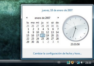 Windows Vista: calendario en un clic
