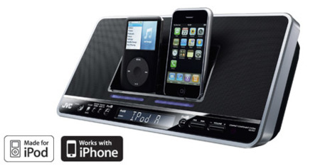 Dock de JVC para dos iPhone/iPod