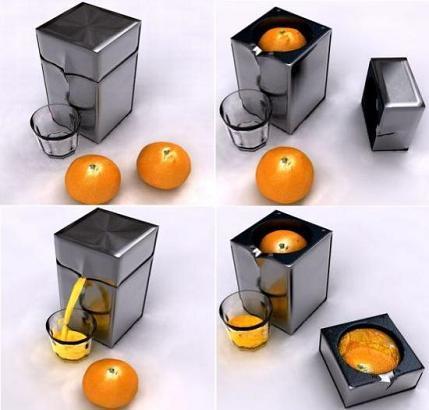 El elegante diseño del exprimidor  Krups Juice Box