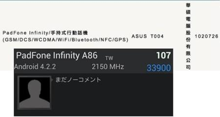 Asus Padfone Infinity A86