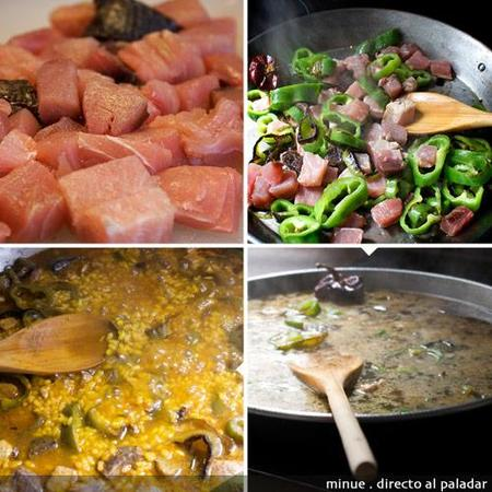 paella de atún - elaboración