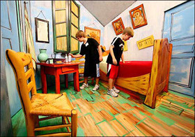 Quieres entrar en el cuarto de Van Gogh?