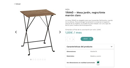Una mesa por 1 euro (al mes): IKEA trae a España su modelo de suscripción de alquiler de muebles de la mano de Rentchester