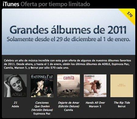 iTunes ofrece discos completos en 70 pesos hasta el 1 de enero