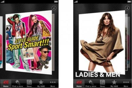 Aplicación de H&M para el iPhone