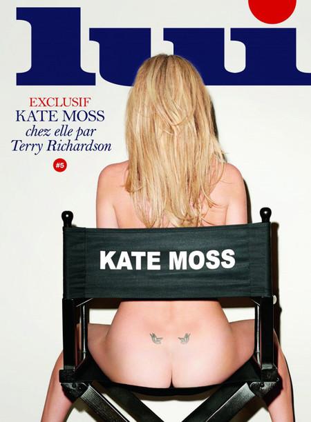 Kate Moss topless Lui portada