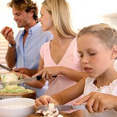 Cocinando con los niños