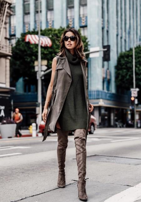 Las bloggers dicen no al charol de Chiara Ferragni y apuestan por las botas altas de ante