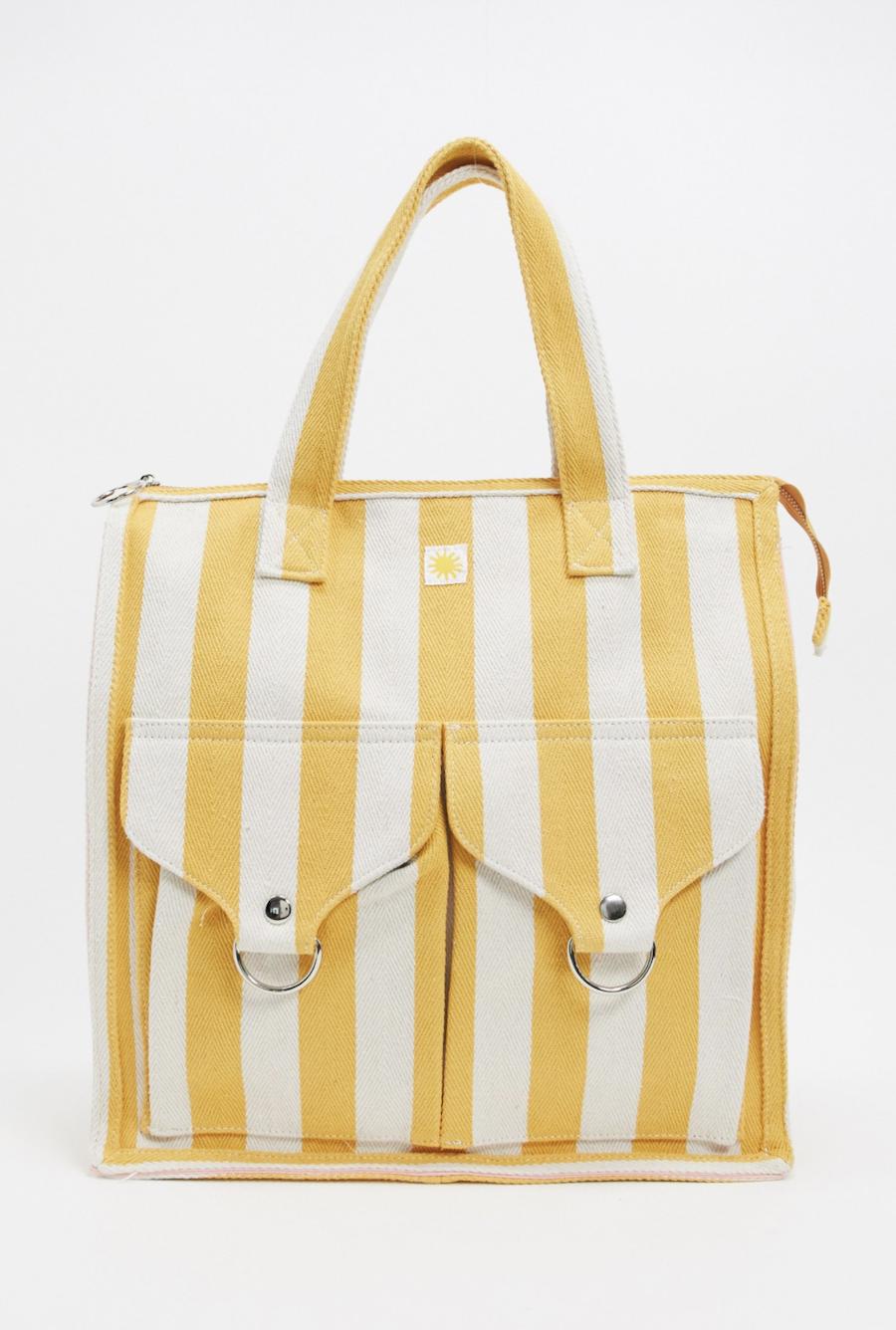 Bolso de playa con diseño de rayas en amarillo de LF Markey